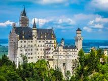 Szalenie królewiątko kasztel Fussen, Niemcy - Neuschwanstein kasztel - Zdjęcie Royalty Free