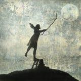 szalenie księżyc Fotografia Royalty Free