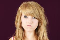 Szalenie lub gniewny nastolatek Zdjęcia Stock