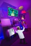Szalenie naukowa zła lekarka, Halloweenowy laboratorium naukowe Zdjęcia Royalty Free