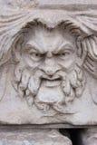 Szalenie twarzy rzeźba Obrazy Stock