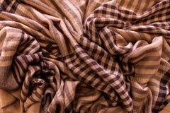 Szalik szkockiej kraty tartanu tekstury deseniowy tło fotografia stock