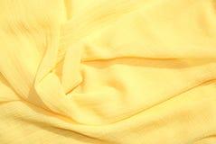 szalika jedwabiu kolor żółty Zdjęcie Stock