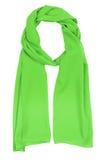 szalika zielony jedwab Obrazy Royalty Free