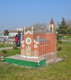 Szalkowy model kościół St Anthony Padua Obraz Royalty Free