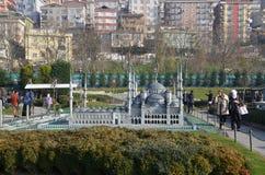 Szalkowy model sułtanu Ahmed meczet Zdjęcia Royalty Free
