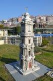 Szalkowy model zegarowy wierza w Dolmabahce pałac Zdjęcie Royalty Free