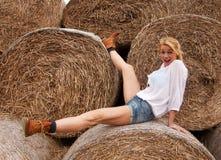 Szalona blond dziewczyna Zdjęcia Royalty Free
