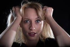 Szalona blond dziewczyna Obraz Royalty Free