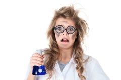 Szalony chemik zdjęcia stock
