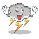 Szalona grzmot chmury charakteru kreskówka ilustracji