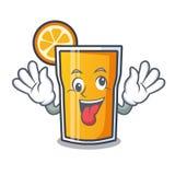 Szalona sok pomarańczowy maskotki kreskówka royalty ilustracja