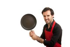 szalona szef kuchni niecka Zdjęcia Stock