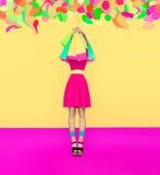 Szalona zakupy dziewczyna Obrazy Royalty Free