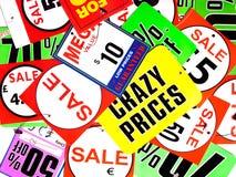 szalone ceny Obraz Stock
