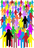 szalonego tłumu ilustracyjni ludzie Fotografia Stock