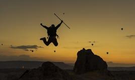 Szalony alpinista obraz royalty free