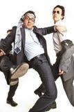 szalony biznesmena taniec zdjęcie royalty free