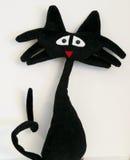 szalony czarny kot Zdjęcia Stock