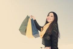 Szalony dla robić zakupy stosować filtrowego instagram styl Zdjęcia Royalty Free