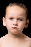 szalony dzieciaka portret smutny zdjęcie royalty free