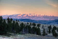 Szalony góra wschód słońca zdjęcia stock