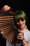 szalony harmonist Zdjęcie Stock