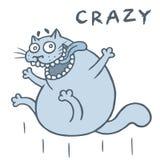 Szalony kot skacze od szczęścia również zwrócić corel ilustracji wektora ilustracji