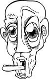 szalony kreskówka mężczyzna Fotografia Royalty Free