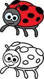 szalony ladybird Zdjęcia Stock