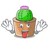 Szalony maskotki gwiazdy kaktus dekoruje w ogródzie ilustracji