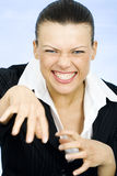 Szalony niemądry bizneswoman zdjęcie stock