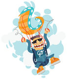 Szalony paraglider royalty ilustracja