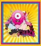 szalony potwór ilustracji