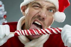 Szalony Santa z lizakiem Obraz Royalty Free