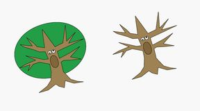 Szalony treebeard Obrazy Stock