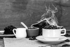 Szalony w miłości z kawą Fotografia Stock