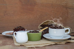 Szalony w miłości z kawą Obrazy Royalty Free