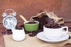 Szalony w miłości z kawą Obrazy Stock