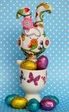 Szalony Wielkanocny królik Zdjęcie Royalty Free