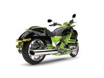 Szalony zielony nowożytny potężny siekacza rower - ogonu widok Obrazy Stock