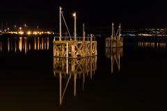 Szalunek struktury lub delfiny, w Cardiff zatoce, Walia Obraz Stock