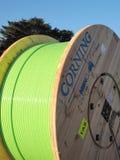Szalunku bęben z zielonym włókna włókna światłowodowego kablem dla Tasmania Obrazy Stock