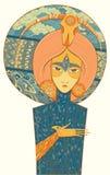 Szaman bogini narodziny i śmierć również zwrócić corel ilustracji wektora Fotografia Royalty Free