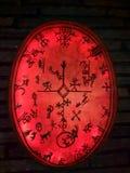 Szaman czarownicy bęben obraz royalty free