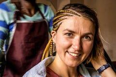 Szamerowanie w fryzjera salonie w Kenja Fotografia Stock