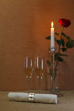 szampańscy szkła Fotografia Stock