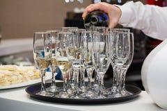 szampańscy szkła zdjęcie stock