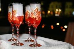 Szampańscy szkła zdjęcie royalty free