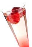 szampańska bożych narodzeń koktajlu truskawka Zdjęcia Royalty Free
